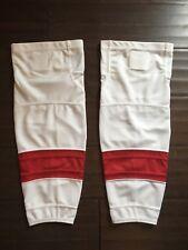 NEW Firstar Stadium Pro Junior White & Red Hockey Socks . Detroit Red Wings NWT