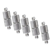 5pcs Silver Tone Beads Magnetic Clasps Jewelry Clasp DIY Necklace Clasps End