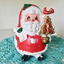 Napcoware Holiday Santa Partridge Pear Tree Planter 8790 Vintage CRAZING