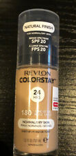 REVLON COLORSTAY NATURAL FINISH FOUNDATION - SAND BEIGE #180 - NORMAL/DRY New