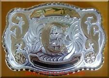 "NEW INITIAL "" C ""  RODEO BIG HUGE LARGE COWBOY WESTERN BELT BUCKLE"
