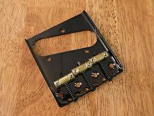 ASHTRAY BRIDGE BLACK 3 BRASS SADDLE FOR TELECASTER