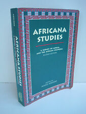 Africana Studies: A Survey of Africa And The African Diaspora by Mario Azevedo