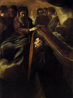 Art Oil Diego Velazquez - St Ildefonso Receiving the Chasuble from the Virgin