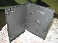 1000 14MM SINGLE BLACK DVD CASE BOX W/ DVD LOGO -PSD10
