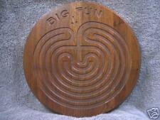 """Big Fun at the Labyrinth - 9"""" round walnut"""