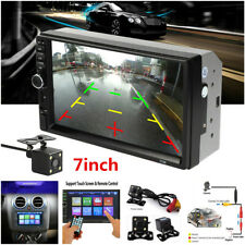 7 inch 2 DIN Car Stereo Radio HD Touch Screen Bluetooth MP5 Player + Rear Camera