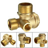 3 Port Brass Air Compressor Check Valve 90deg For Central Pneumatic 40400 Series