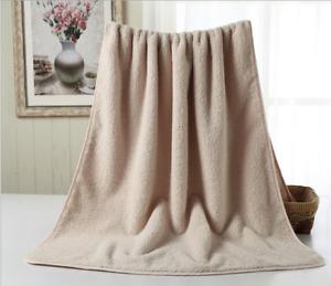 1pcs Pure Color Luxury 100% Egyptian Cotton Towel Bale Hand Face Bath Absorbent