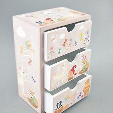 Floss & Rock Woodland Animal 3 Drawer Trinket Jewellery Box Wooden Girls Gift