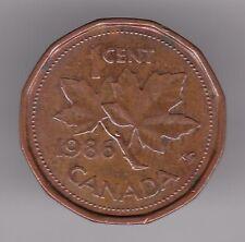 Canada 1 CENTESIMI 1986 moneta bronzo-FOGLIA D'ACERO