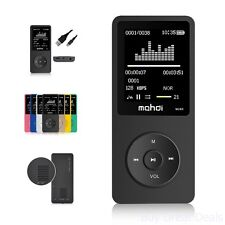 MP3 Music Player 8GB with 1.8in Screen 70h HQ Sound Supports Up To 128 GB Micro