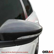 Fits VW Passat 2012-2015 Genuine Carbon Fiber Side Mirror Cover Cap 2 Pcs