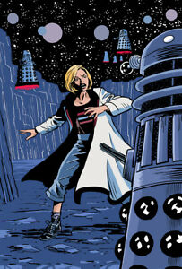 Doctor Who Art Print The 13th Doctor and the Daleks by Scott Gray
