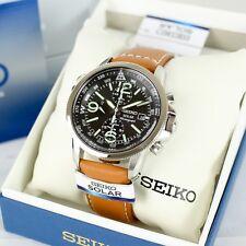 Auth SEIKO Men's Wrist Watch SSC081 Solar Chronograph With Box