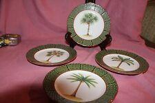 4 Email de Limoges 1855 Palm Tree Plate L.Godinger