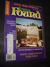 Treasure Found! Magazine Fall 1993 CIVIL WAR SPECIAL-10,000 year old stone tools