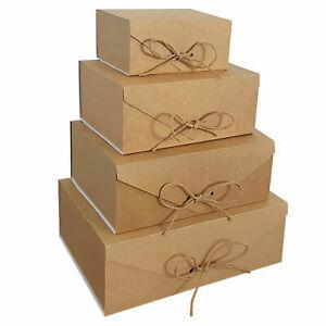 Gastgeschenke Geschenkkarton Geschenkbox 4 Formatten ECO KRAFT für Weihnachten