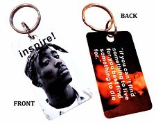 Tupac Shakur Key chain  with quote gift Rap Music 2pac gangster collectible New