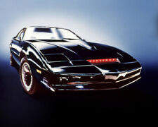 Knight Rider Kit Car With Red Lights On Glowing Background 16x20 Canvas Giclee