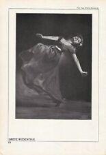 GRETE WIESENTHAL, AUSTRIAN DANCER Original Double Side HALFTONE 1920's