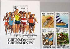 GRENADA GRENADINES 1986 812-15 Block 119 B1-B5 Olympics 1988 Seoul Sports MNH