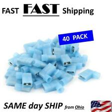 40pcs 90 Degree Insulated Female Push On Wire Terminal Connector