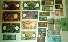 Lotto 28 Banconote Vecchie Lire Italiane copie (Fac-Simile)
