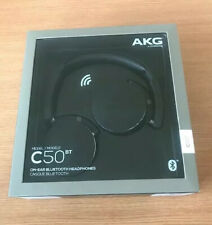 AKG wireless Bluetooth headphones- black Y50bt C50bt REFURBISHED Free p&p