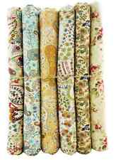 6pcs FQ BUNDLE light brown paisley COTTON FABRIC FLORAL quilting Crafts quilting