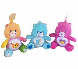 "Care Bears Bedtime Work Of Heart Shine Bright Plush Stuffed Animal Nanco 7"" 2003"