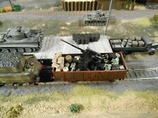 HO Roco Minitanks 7th Panzer Army Artillery Car A1105 Hand Painted Weathered