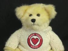 "BEAR HUGS FOR FREE CREAM SWEATER RED HEART TEDDY BEAR FIESTA TOY PLUSH 7"""