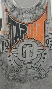 TAPOUT Tank/Singlet - Awesome 'Hated 2 Heroes' Design - Size:Large - Pre-Owned