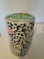 Duck Tape Printed Tape Pink/white/Black Animal Print Lips kisses 10yd LOT OF 3