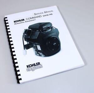 KOHLER COMMAND PRO 27 CH18-745 HORIZONTAL ENGINE SERVICE REPAIR MANUAL BOOK