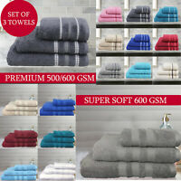 Soft 100% Egyptian Cotton Hand Towel Bathroom Bath Sheet 600 GSM Towels Bale Set