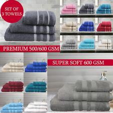 Soft 100% Egyptian Cotton Hand Towel Bathroom Bath Sheet 600 GSM Towels Bale Set