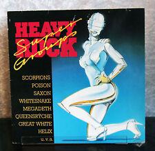 "LP heavy rock - 1988 Saxon Megadeth Scorpions Helix msg Metal vinile 12"""