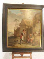 Scène de genre peinture hollandaise non signée époque XVIIIème