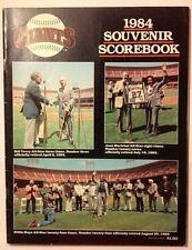 Giants Vs Montreal~1984 Souvenir Scorebook~Scored