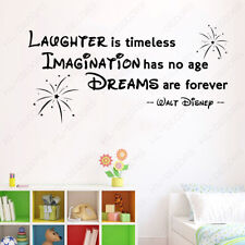 Firework Laughter Imagination Quote Wall Stickers Kids Room Vinyl Decor Decals
