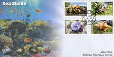 Mauritius 2017 FDC Seashells Sea Shells Cowrie Conch 4v Set Cover Marine Stamps