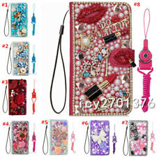 For Sony Phone Flip Leather Cases Bling diamonds stand wallet covers & straps O