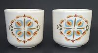 Treasure Craft Sienna Stoneware Cups Set of Two (2) Short Tumblers Made in USA