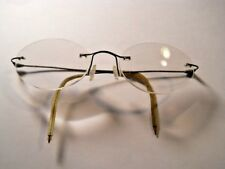 Vintage 1960's RALPH LAUREN RIMLESS EYEGLASSES Oval Lens Made Italy Retro look