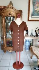 Ann Taylor Silk Brown Dress Button Down Size 6