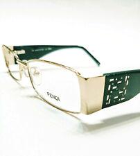 New Fendi Eyeglasses 923 Gold Green 758 Authentic 50-16-135 w/case