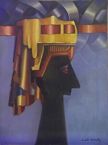 Cundo Bermudez.  Acrylic On Canvas.   Signed   Framed
