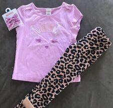 Gymboree Girls Sequin Deer Shirt Animal Print Lined Pants Hair Clip 3T NWT GYM10